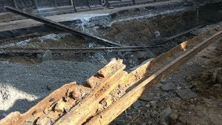 Old tram tracks unearthed in Mumbai - TIMESOFINDIACHANNEL