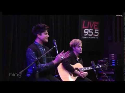 Never Close Our Eyes Acoustic Adam Lambert - Premier 3-25-2012