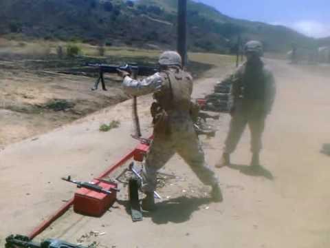 Firing the M240B standing