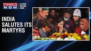 Pulwama encounter: Late Major Vibhuti Shankar Dhoundiyal's wife salutes him for the last time - TIMESNOWONLINE