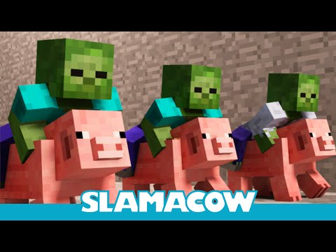Pig Racing Minecraft Animation Slamacow