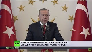 Turkey withdraws troops from Norway after Erdogan is listed as 'enemy' during NATO drills - RUSSIATODAY