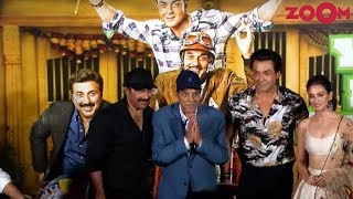 Dharmendra, Bobby Deol, Sunny Deol & Kriti Kharbanda Pose At 'YPD3' Trailer Launch - ZOOMDEKHO