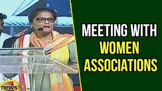 Sushmita Dev Speech at Woman Self Help Groups Meeting | Rahul Meeting With Women Associations - MANGONEWS