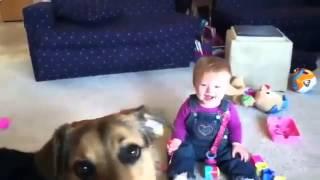 شاهد رد فعل الطفل عندما رأى فقاعات الصابون