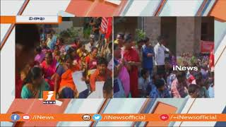 Contract Workers Dharna For Salaries at KGH Hospital | Face To Face | Vizag | iNews - INEWS