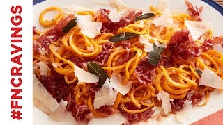 Butternut Squash Noodles with Prosciutto and Sage | Food Network - FOODNETWORKTV