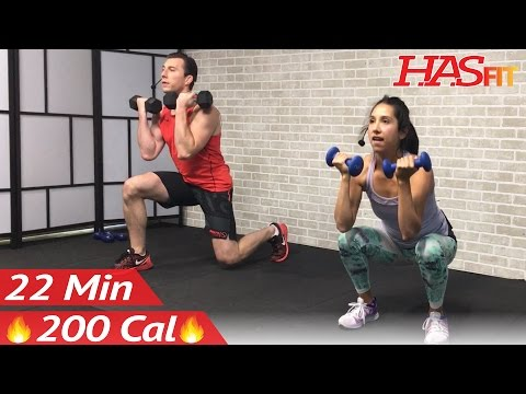 22 Min HIIT Strength and Cardio Workout at Home - Cardio and Strength Training Workouts - Weight