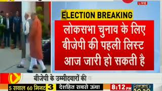 BJP to announce first candidate list for LS polls today - ZEENEWS