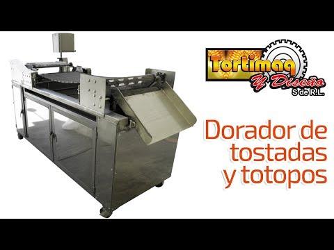 Máquina para tostadas y totopos - Dorador de tostadas | tortimaq.com.mx