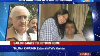 Sailor Sunil James to return home - TIMESNOWONLINE
