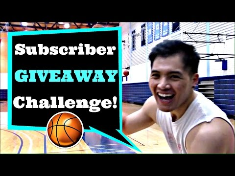 Subscriber Giveaway Challenge! BASKETBALL GIVEAWAY