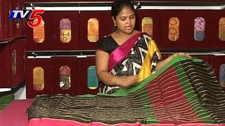 Designer Black Mythri Silk Saree : TV5 News - TV5NEWSCHANNEL