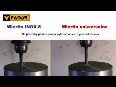 Porównanie wierteł INOX S i 1300 marki Fanar