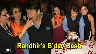 Karisma-Kareena hosts dad Randhir's B'day Bash - IANSLIVE