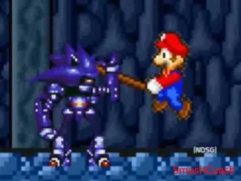 Super Mario Bros Z combates: Mario y Sonic VS Mecha Sonic