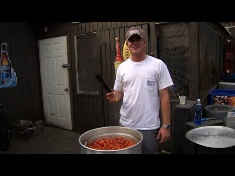John Peterson hosts a crawfish boil