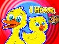 Five Little Ducks + Plus More Children's Songs = 1 Hour Kids Nursery Rhymes Compilation, Baby Video!