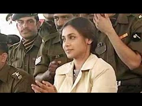 Rani Mukherji visits jawans at Pokhran (Aired in May 2004)