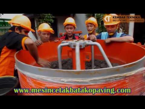 Trial Mesin Mixer dan Mesin Batako Hidrolik