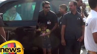 PM Modi Stops His Car To Meet 4 Year Old, On His Way To Airport | Mango News - MANGONEWS