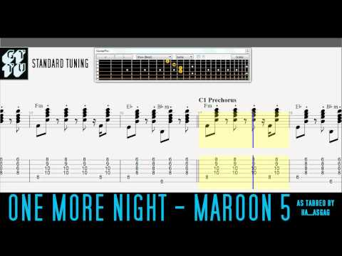 One More Night by Maroon 5 Easy Guitar Pro TABS