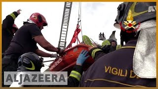 🇮🇹 Italy bridge: 39 dead as rescuers search for survivors | Al Jazeera English - ALJAZEERAENGLISH
