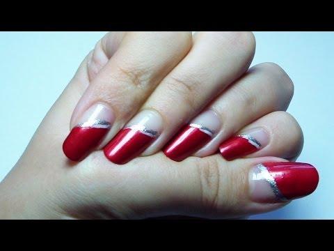 Rojo, fácil y elegante/ Easy and elegant red manicure (Eng Subtitles)