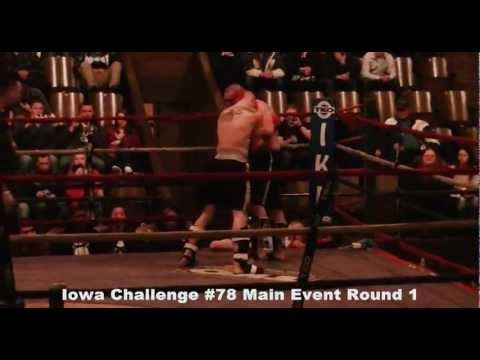 Light Welter Weight Kickboxing Title Fight Iowa Challenge #78