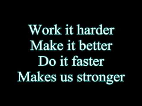Daft Punk-Harder Better Faster Stronger (Lyrics)
