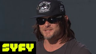 Live From Comic-Con   Watch Norman Reedus Prank Andrew Lincoln With Glitter   Syfy - SYFY