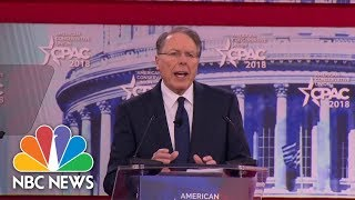 NRA Chief Wayne LaPierre Says Communities Must 'Harden' Schools With Armed Security | NBC News - NBCNEWS