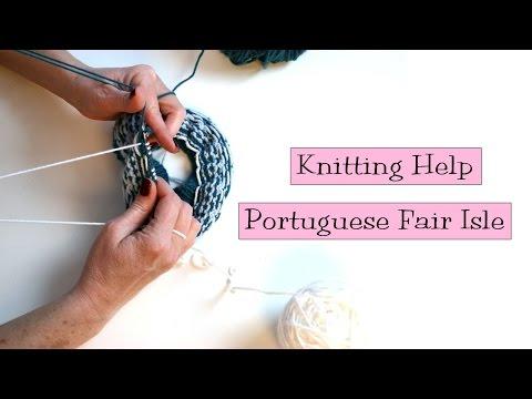 Knitting Help - Portuguese Fair Isle
