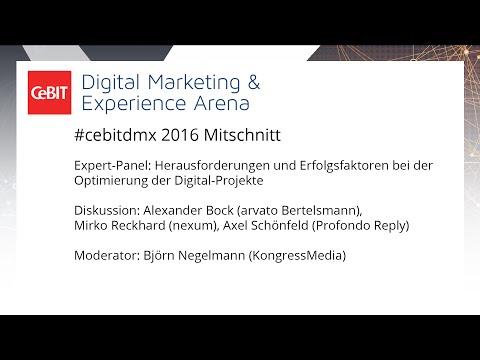 #cebitdmx: Herausforderungen und Erfolgsfaktoren bei der Optimierung der Digital-Projekte