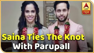 Saina Nehwal ties the knot with Parupalli Kashyap - ABPNEWSTV