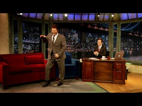 Nick Offerman Break Dances