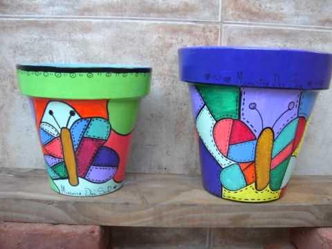 Como pintar una maceta de plastico imagui - Como decorar macetas ...