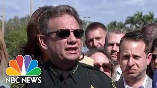Florida Sheriff Scott Israel Pleads For 'Power' To Detain People For Social Media Threats | NBC News - NBCNEWS