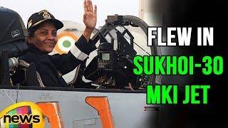 Indian Defence Minister Nirmala Sitharaman Flew in Sukhoi-30 MKI Jet | Mango News - MANGONEWS