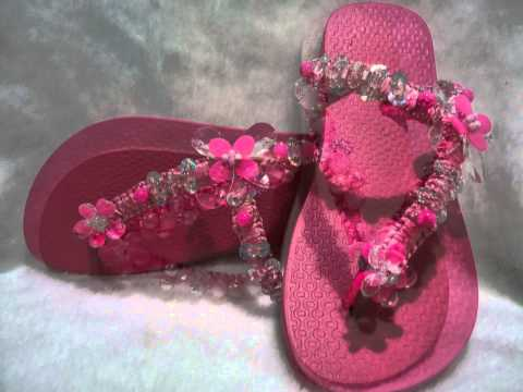 sandalias decoradas- Luana valença- seja uma revendedora