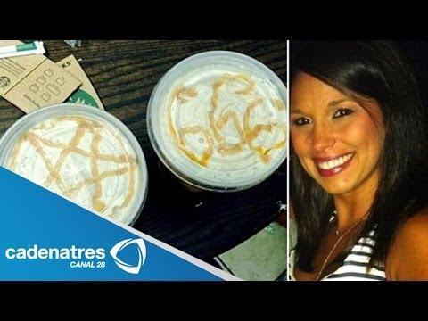 Mujer encuentra signos diabólicos en su café