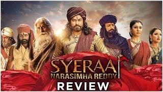 SyeRaa Narasimha Reddy Telugu Movie Review   Chiranjeevi, Amitabh Bachchan, - RAJSHRITELUGU