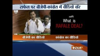 BJP, Congress war over Rafale deal - INDIATV