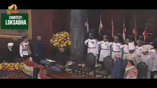 President Elect Ram Nath Kovind Entry At His Oath Taking Ceremony In Central Hall of Parliament - MANGONEWS