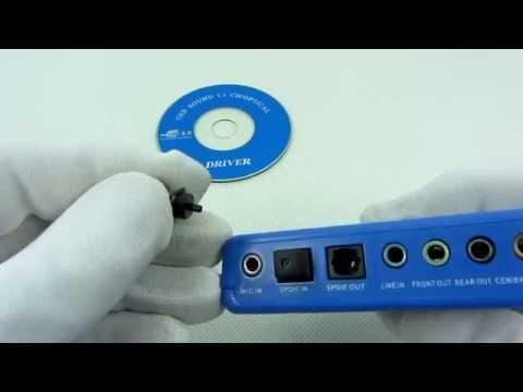 ZEWNĘTRZNA KARTA DŹWIĘKOWA 7.1 MIDI USB CM119 AK103A