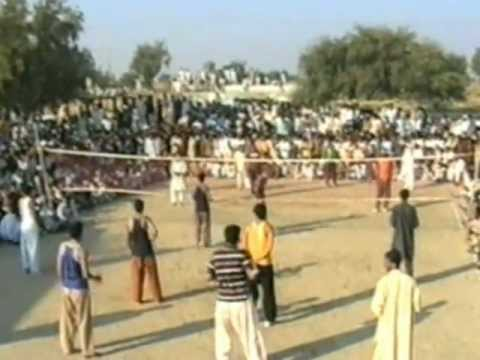 sufiyan from behboodi volleyball match mianwali pakistan