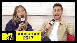 The CW's 'Supergirl' Cast Musical Recap of Season 2 | Comic-Con 2017 | MTV - MTV