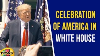 President Donald Trump Participates in the Celebration of America in White House | Mango News - MANGONEWS