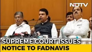 Devendra Fadnavis Gets Top Court Notice For Not Declaring Criminal Cases - NDTV