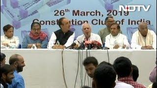 नोटबंदी पर विपक्ष की साझा प्रेस कॉन्फ्रेंस - NDTVINDIA